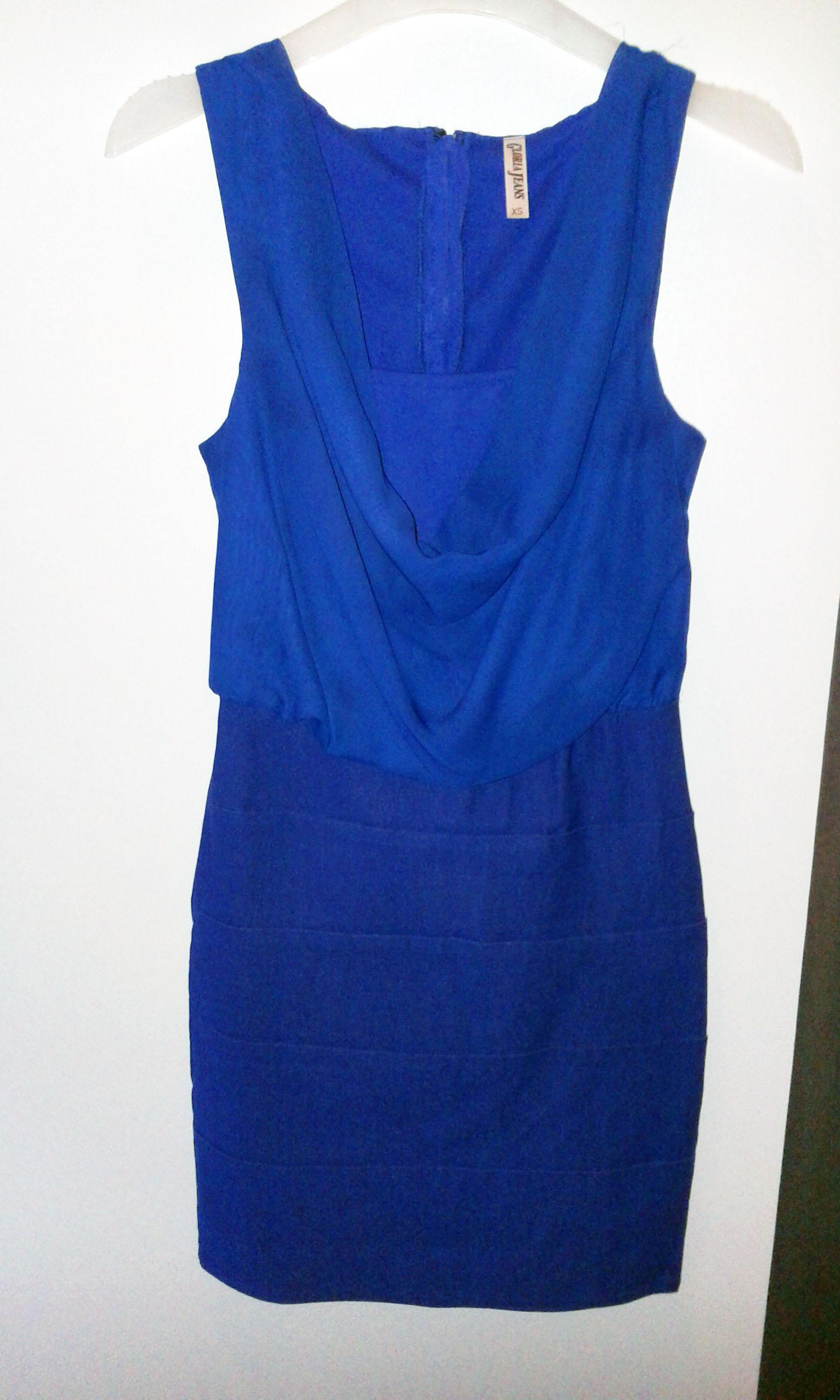 Продам Синее коктейльное платье 40 р.