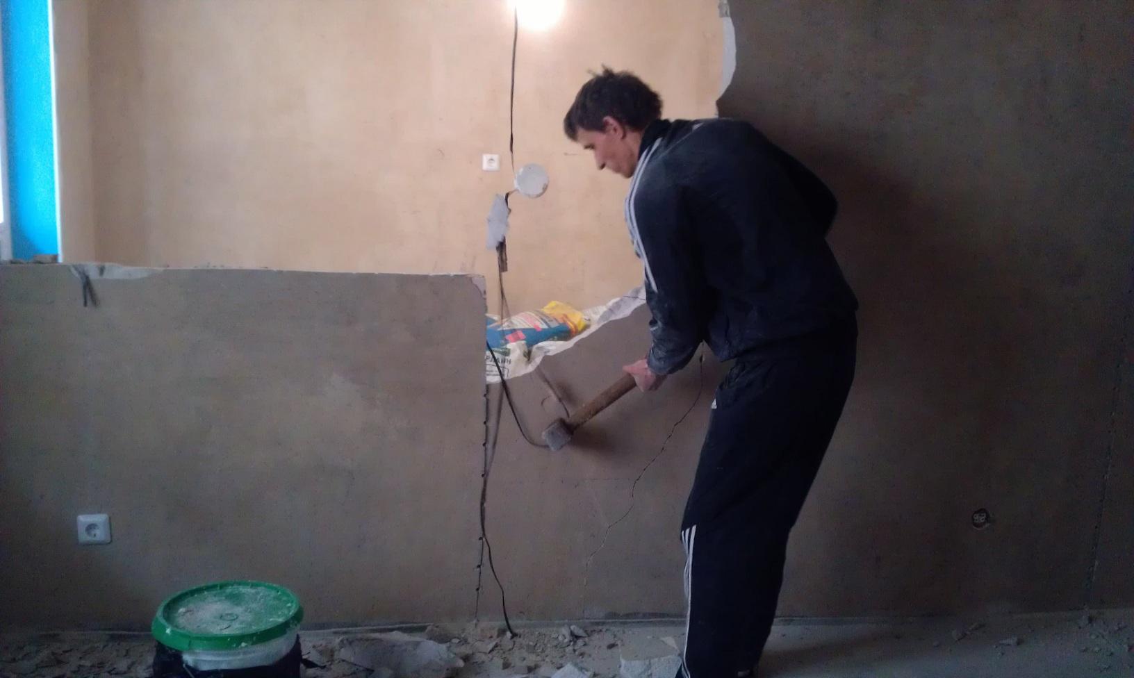 Предложение: Демонтаж стен, полов и вывоз мусора