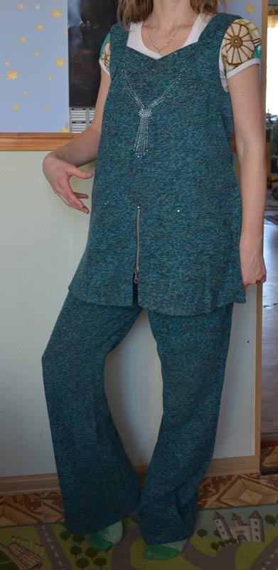 Продам костюм для беременных.44р-р.рост 160 син