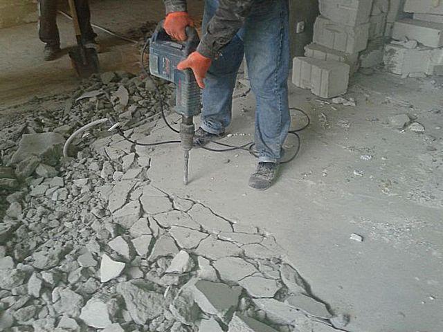 Предложение: Демонтаж стяжки, пола напольных покрытий