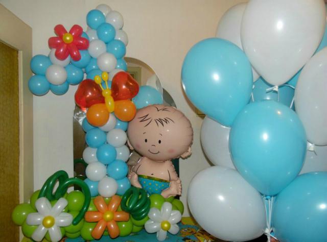 Предложение:  Цифра из воздушных шаров. Шарики с гели