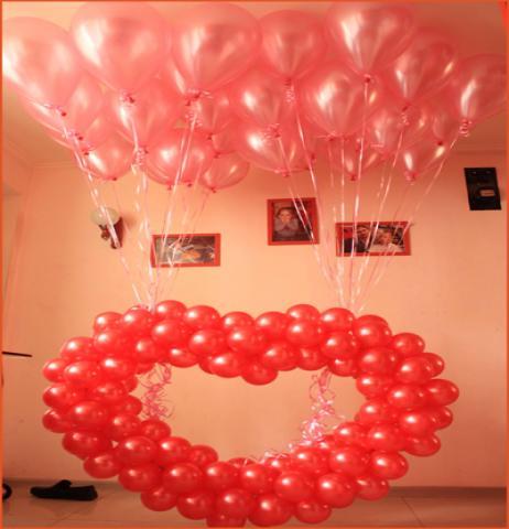 Продам Сердце из воздушных шаров с доставкой