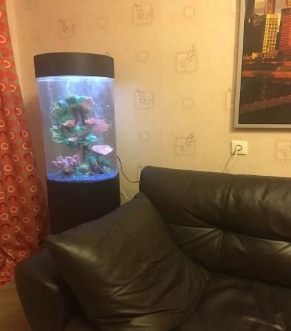 Продам 150л цилиндрический аквариум Марвелоус