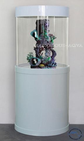 Продам  Красивый аквариум (цилиндр) 129литров
