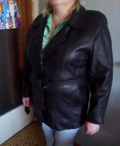 Продам Кожаная куртка удлиненная
