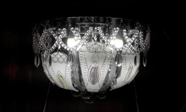 Продам  Led люстра 5 ламп с пультом М-13