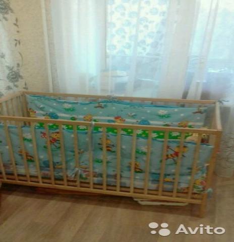 Отдам даром детская кроватка+матрац+бортики