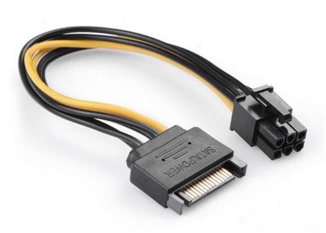 Продам: Кабель питания видеокарты PCI-E - SATA