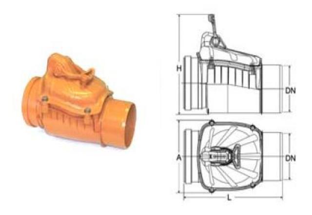Продам: Обратный клапан для канализации 110 мм