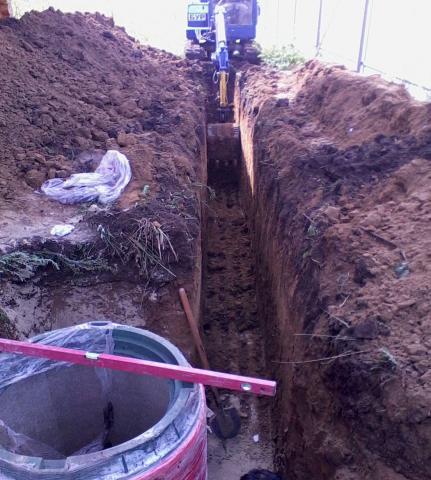 Предложение: Рытье траншей под воду, канализацию, газ