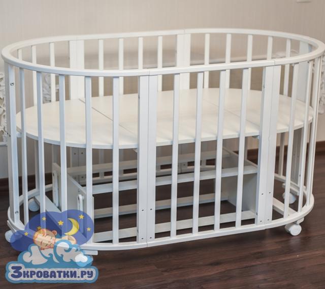 Продам Круглая (овальная) детская кроватка тран