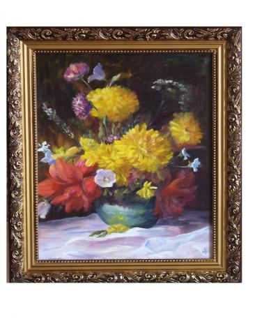 Продам Картина букет с золотыми шарами