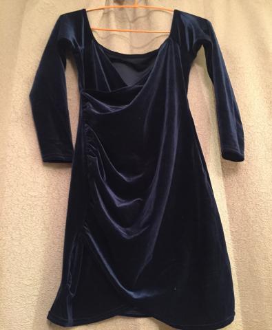 Продам Коктейльное платье из стретч бархата