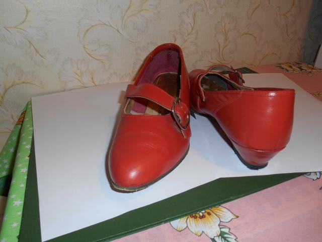 Продам: туфли натуральная кожа красные