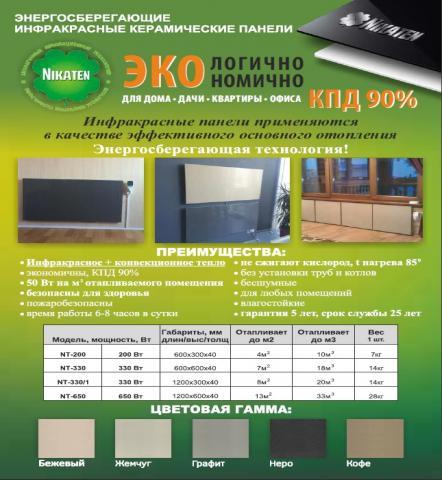 Продам Продам энергосберегающее отопление