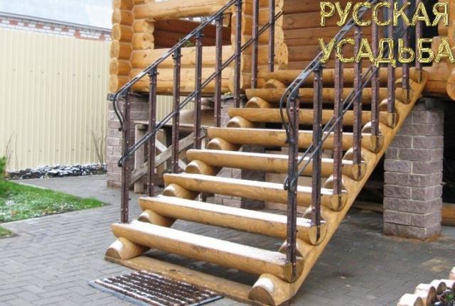 Продам: Лестница из бревна