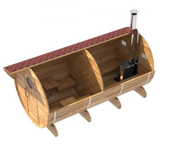 Продам Баня-Бочка из благородного кедра 4 метра