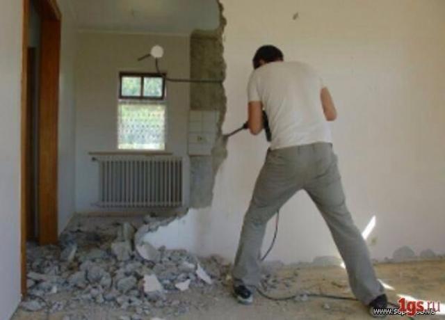 Предложение: Демонтаж стен,перегородок.Ветхого жилья.