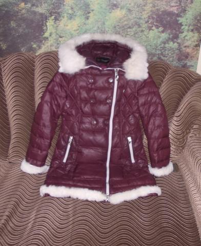 Продам Куртка - пальто ( пуховик с капюшоном )