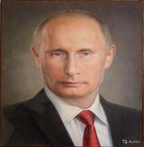 Продам портрет путина холст масло