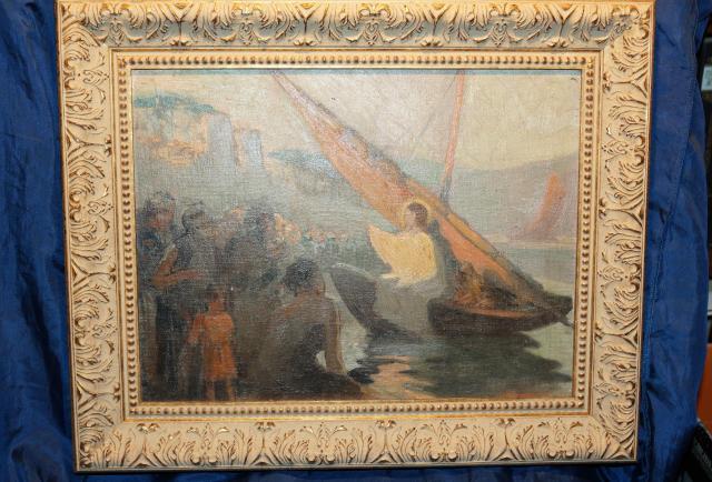 Продам Старинная картина «Проповедь Христа».XIХ