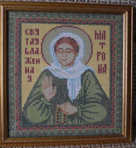 Продам Икона Святой Матроны (вышивка крестом)