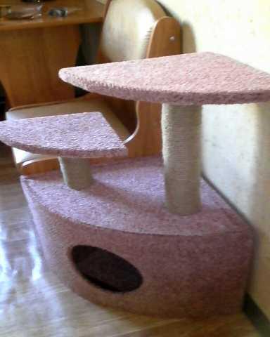 Продам Новый домик с когтеточкой (угловой)