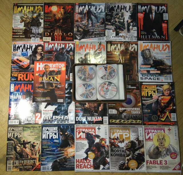 Продам 21 журнал и 34 диска Игромания и другие