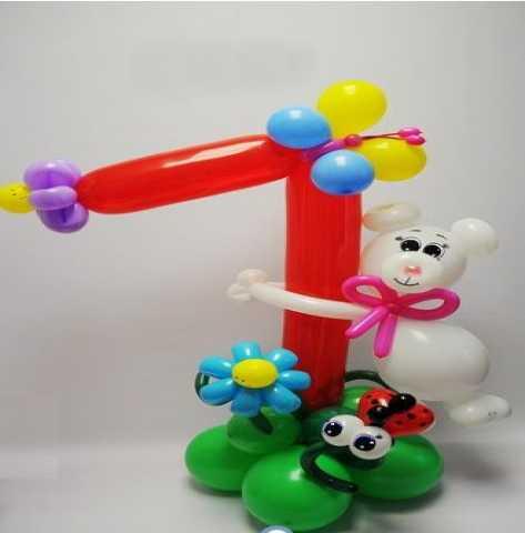 Продам Детская фигура из шаров Мишка на цифре