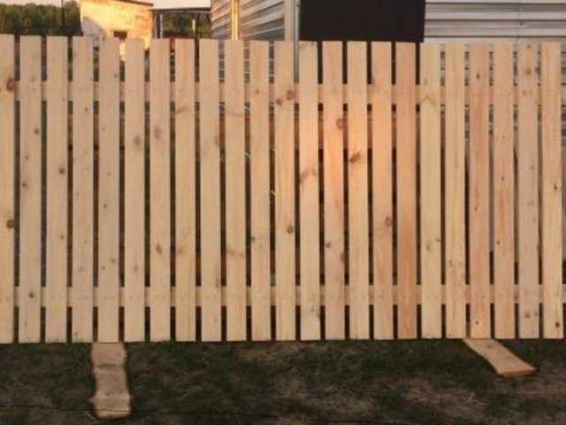 Продам Забор деревянный (секция) из евро штакет