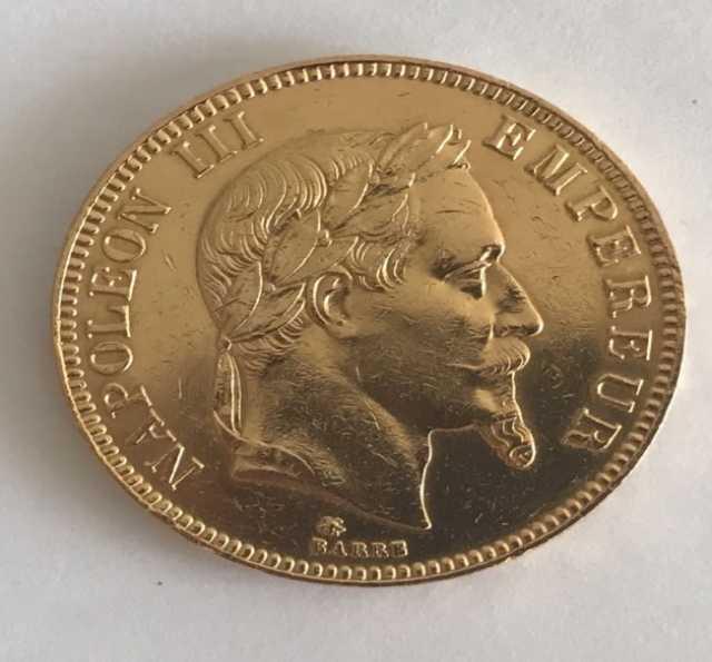 Отдам даром 100 франков Наполеон золото