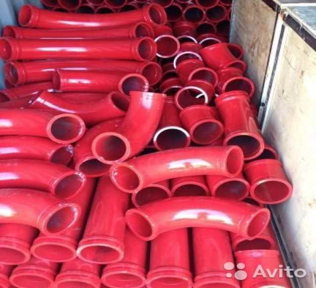 Продам: углы, колена бетоновода для бетононасосо
