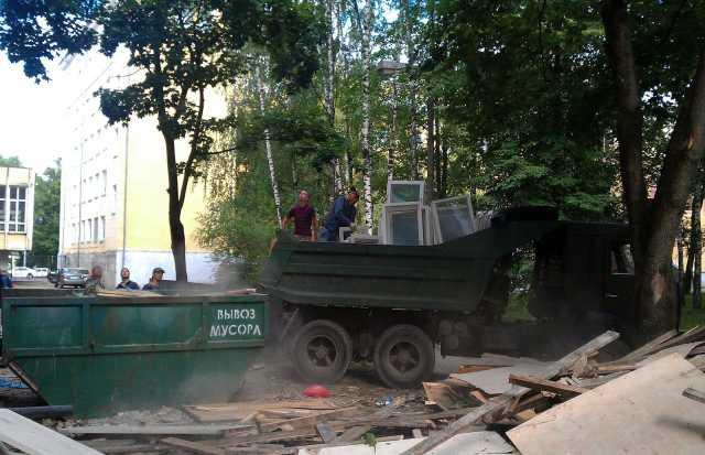 Предложение: Вывоз мусора контейнерами и машинами