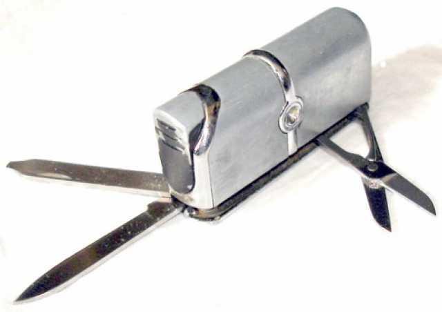 Продам Газовая турбо зажигалка - складной нож