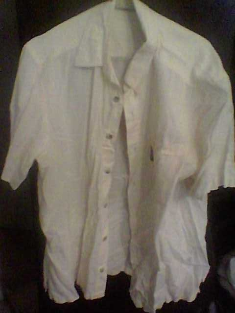 Продам Рубашка бежевая с коротким рукавом