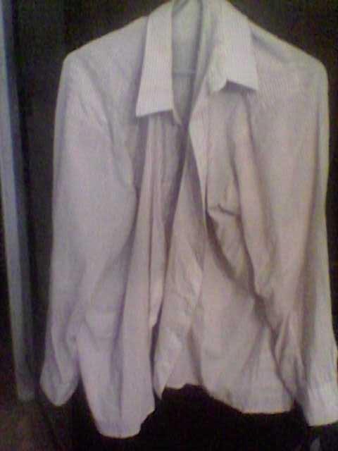 Продам Рубашка бело-коричневая
