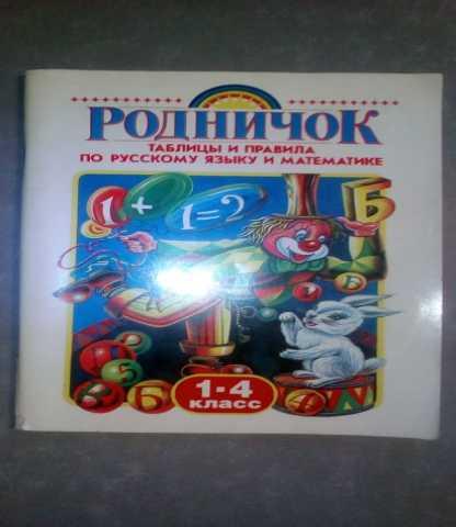 Продам Таблицы и правила по русскому и математи