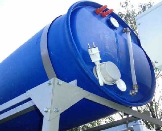 Продам Бочка пластиковая 227 л душ с подогревом