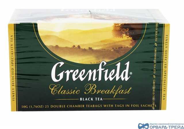 Продам Чай Гринфилд Классик Брекфаст 50гр(25х2г