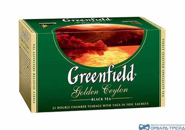 Продам Чай Гринфилд Голден Цейлон 50гр(25х2г)