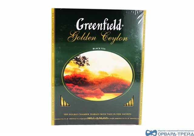 Продам Чай Гринфилд Голден Цейлон 200гр(100х2г)