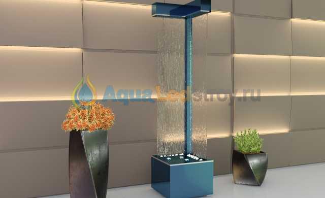 Продам Интерьерный угловой водопад по стеклу №3