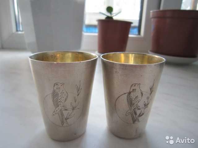 Продам  Рюмки (стакан ) серебряные 875 пробы Пл