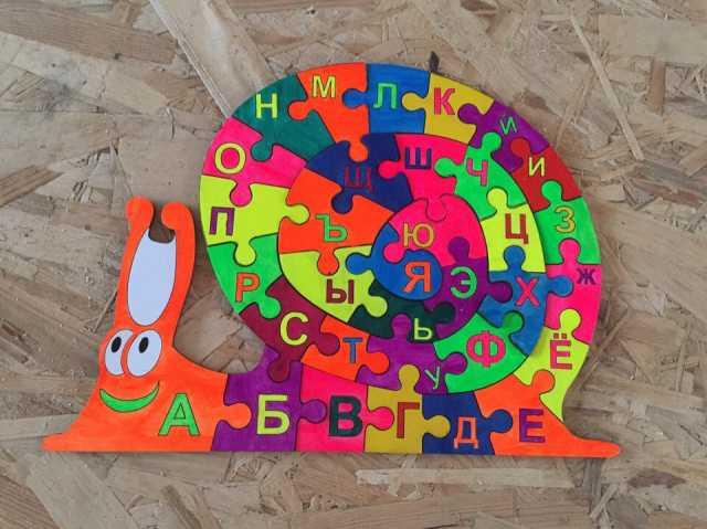 "Продам Улитка - пазл ""Алфавит"" , ""Цифры"""