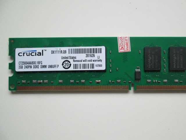 Продам 2Gb DDR-2. Crucial.