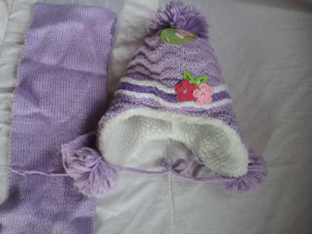 Продам Шапочка + шарфик зима осень 48-52