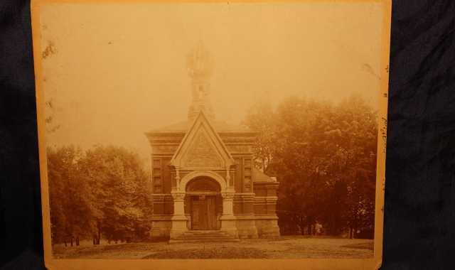 Продам: Ферротип с русским храмом. 1897 год.