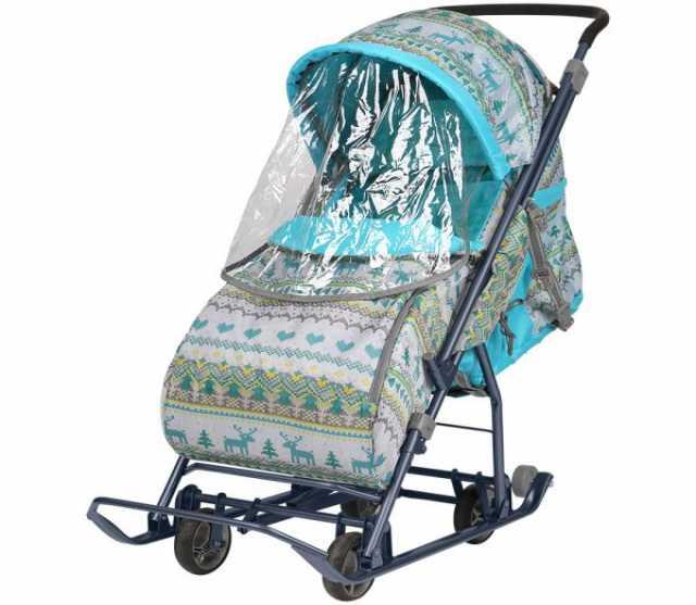 Продам Санки-коляска с выкатными колесами