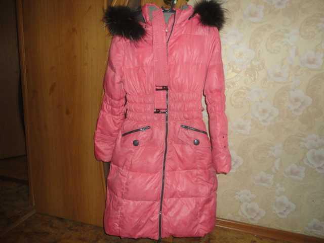Продам Пальто пуховик подростковый р 152 см