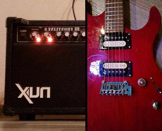Продам Гитара Astone, комбоусилитель NUX 8 с ко
